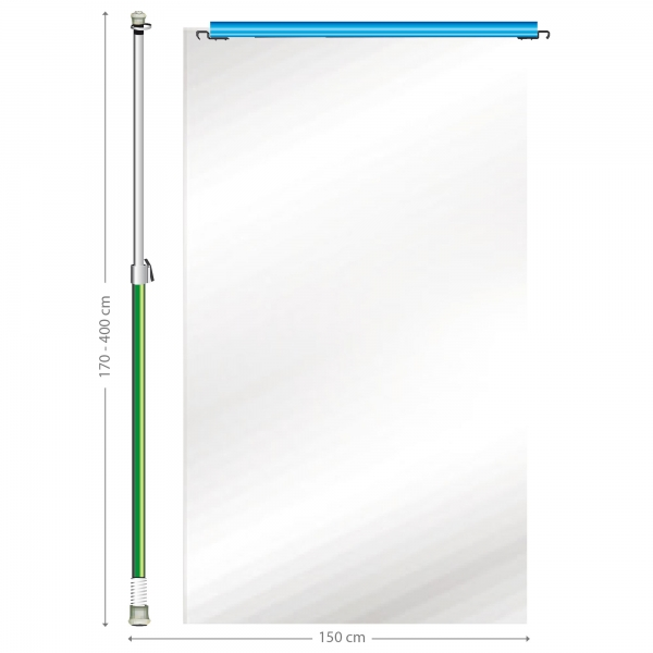 Curtain-Wall Staubschutzwand Erweiterung Ausbau Modul 150 cm