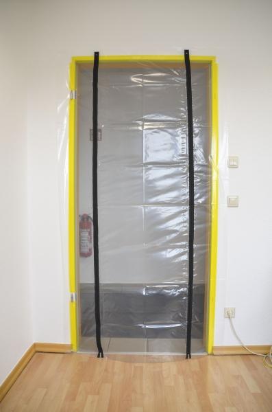 Folien Staubschutztür mit zwei Reißverschlüssen 210 x 110 cm