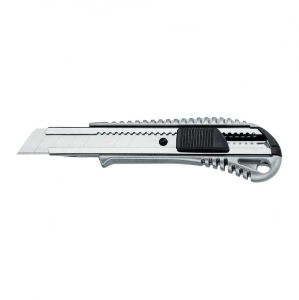 Abbrechmesser Cuttermesser Aludruckguss 18 mm mit Metallführung
