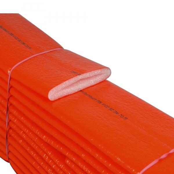 PE Schutzschlauch Isolierung 9 mm rot für Abwasser
