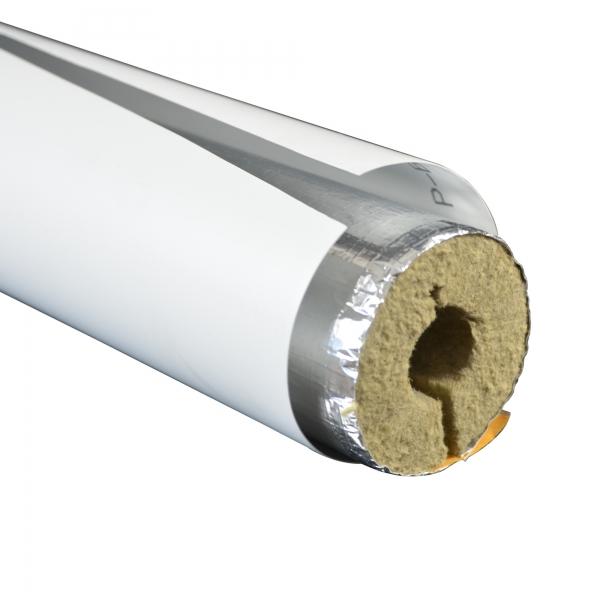 PVC Folienzuschnitt hellgrau für gedämmte Rohre