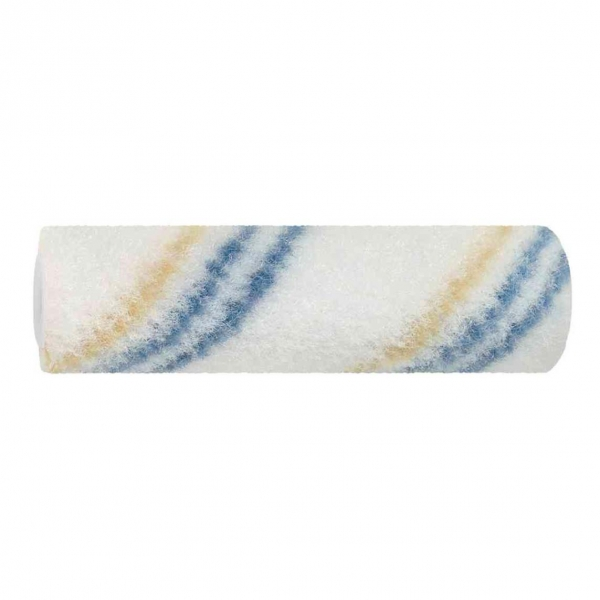 Beschichtungswalze 10 cm Nylon Blau-Gelbfaden, Polhöhe 7 mm, Kern 17 mm