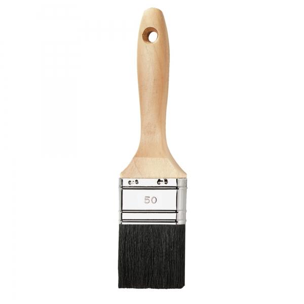Flachpinsel 50 mm 9. Stärke Naturborste 80% Tops BLACKLINE
