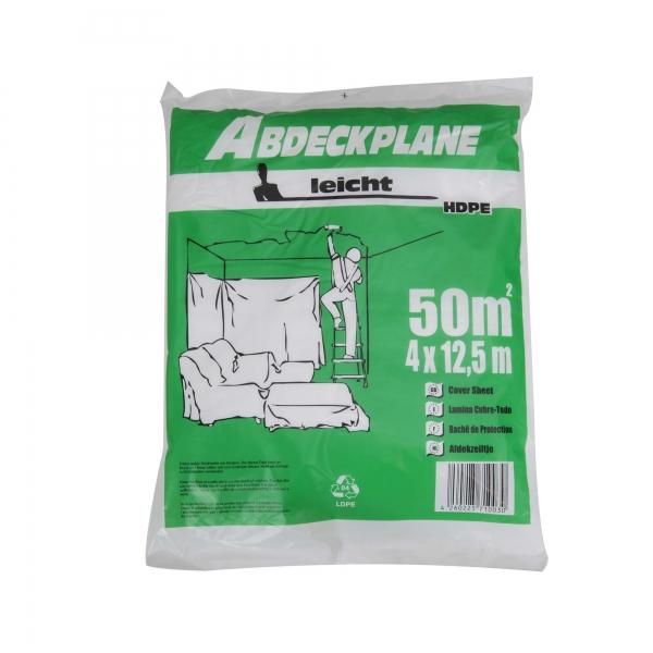 """Abdeckplane Abdeckfolie HDPE 7 my """"leicht"""" 4 x 12,5 m"""
