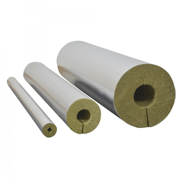 Rohrschale Rohrisolierung Steinwolle alukaschiert 0.040 W/mK