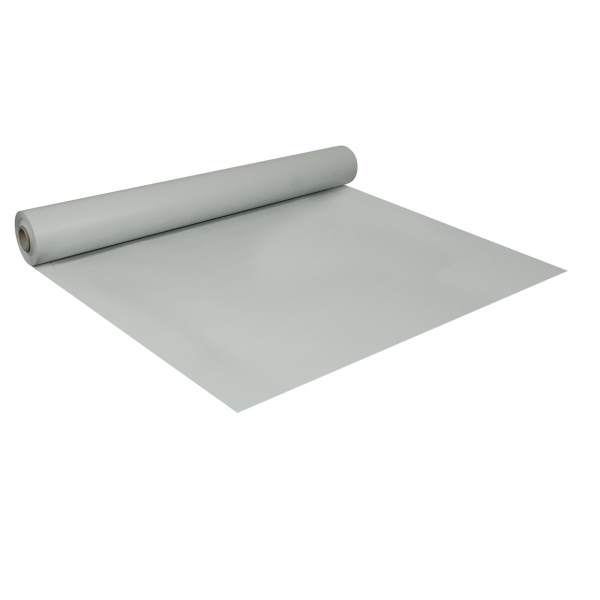 PVC-Folie B1 schwerentflammbar hellgrau 1,0 m x 25 m