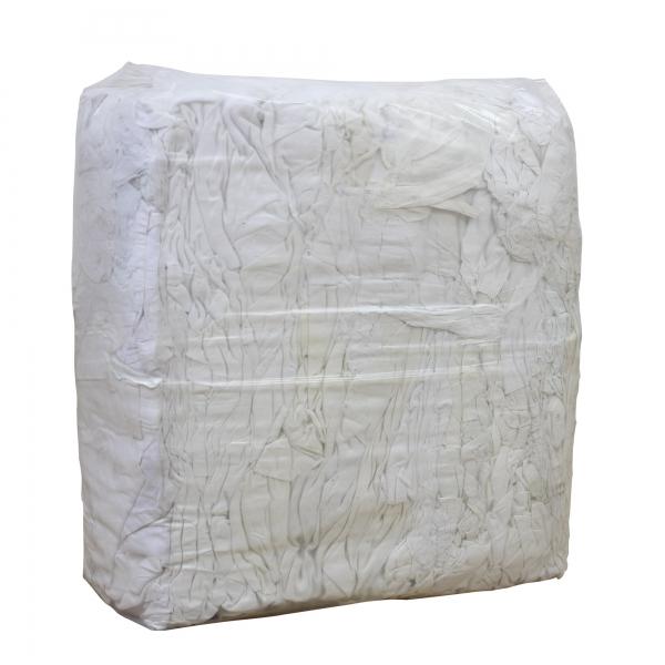 Putzlappen aus weißer 100er Baumwolle im 10 kg Paket