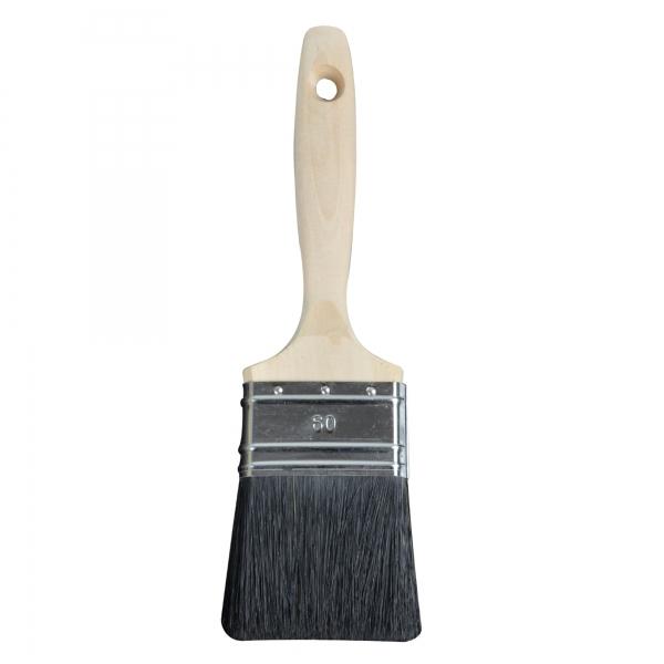 Flachpinsel 60 mm 9. Stärke Naturborste 80% Tops BLACKLINE