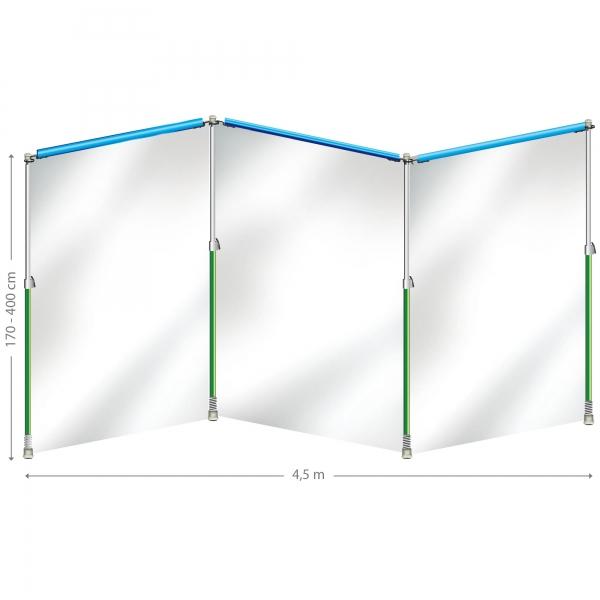 Curtain-Wall Staubschutzwand System Starterkit 4,5 m x 4 m