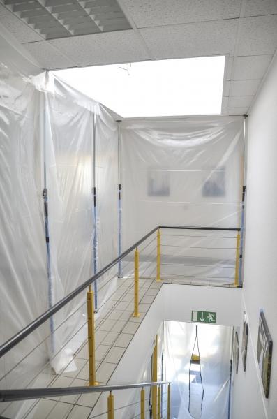 """Staubschutzwand Set """"Renovierung"""" Höhe 3,75 m x Breite 5,00 m"""