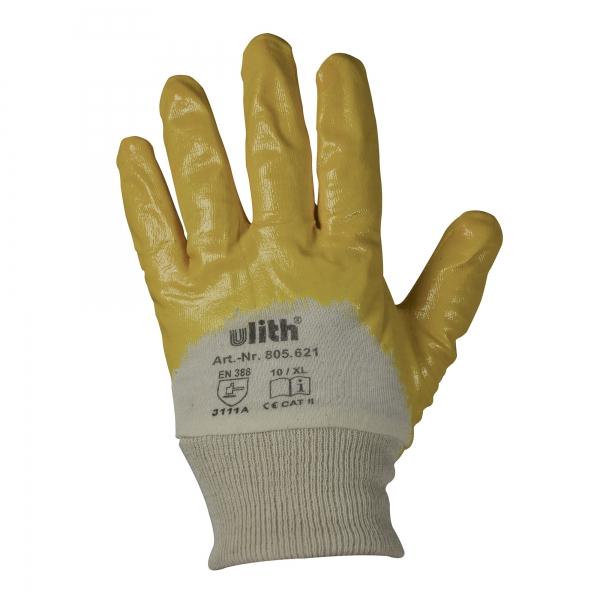 Arbeitshandschuhe Handschuhe Nitril mit Strickbund gelb Größe 10