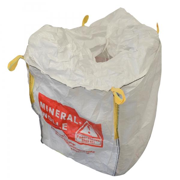 BIG BAG Mineralwolle 90 x 90 x 110 cm beschichtet mit Warndruck