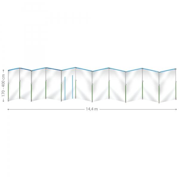 Curtain-Wall Staubschutzwand System Masterkit 14,4 x 4 m