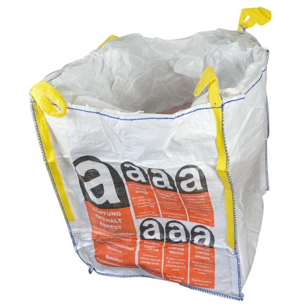 BIG BAG Asbest 90 x 90 x 110 cm beschichtet mit Warndruck