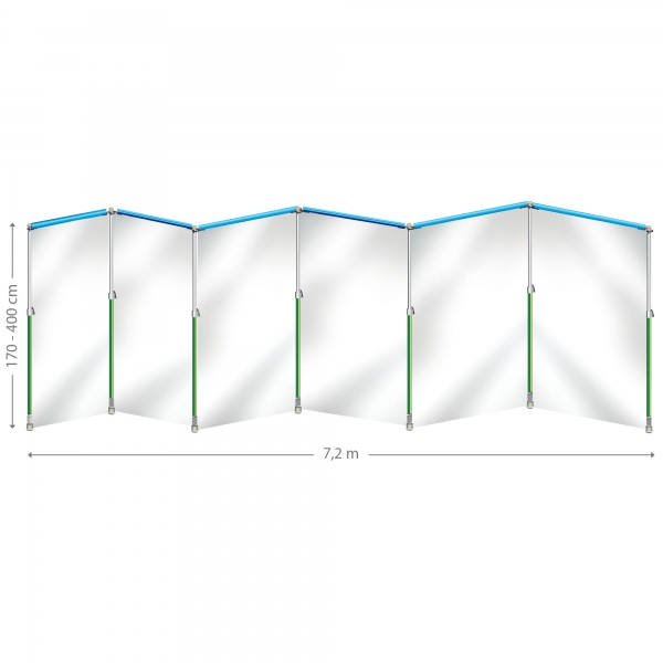 Curtain-Wall Staubschutzwand System Prokit 7,2 x 4 m