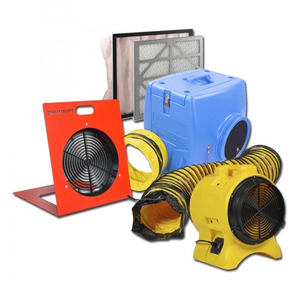 Staubfilterbox 350 Setpaket 5 Staubabsaugung 10 m Ansaugschlauch Absaugtrichter