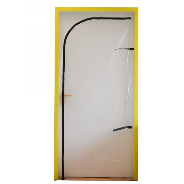 Folien Staubschutztür schwellenlos mit Reißverschluss 210 x 110 cm